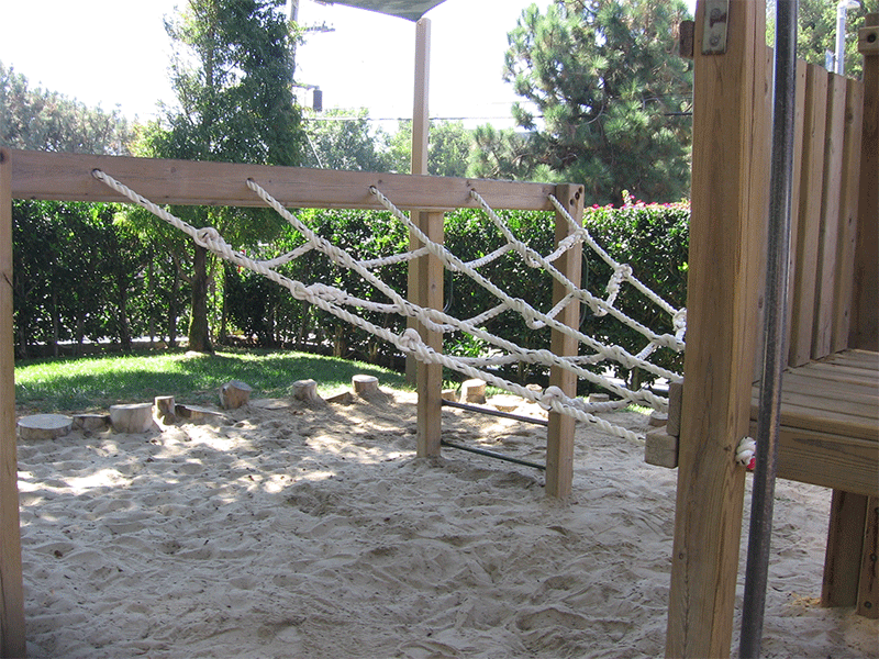 Climbing and Cargo Nets in the park