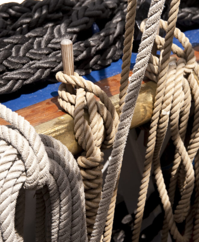 Sailing ship different types of Rope
