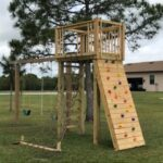 Play gym for kids with Rock Climber