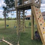 Play gym for kids with Rock Climber portrait view