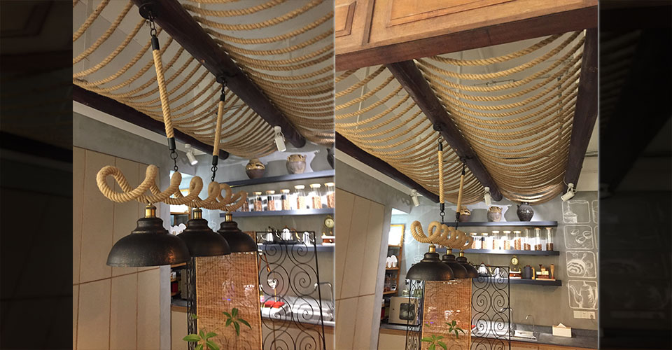 Restaurant using ropes