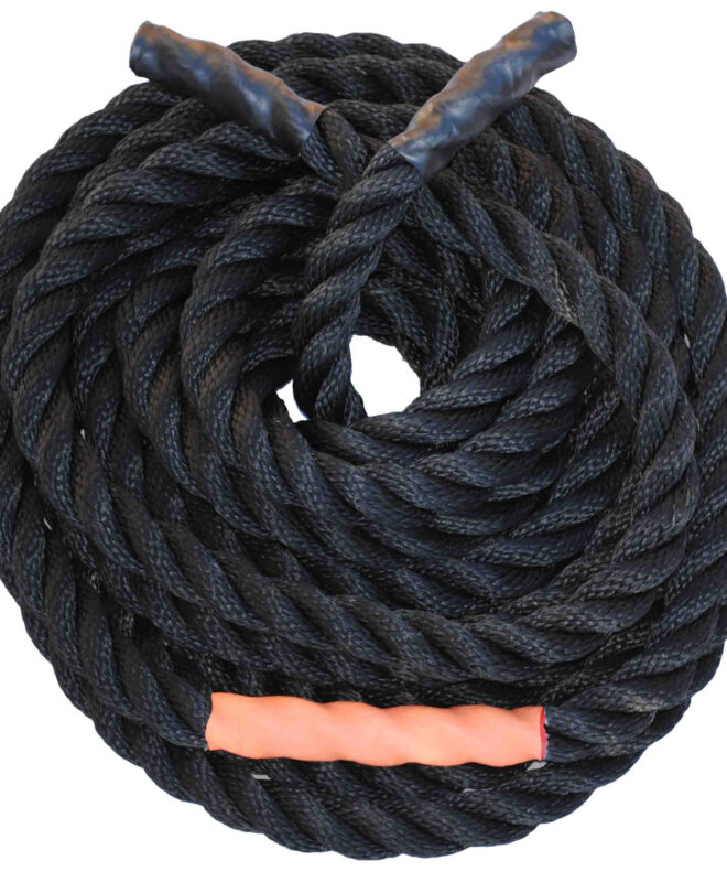Black Nylon Undulation Rope by Pacific Fibre and Rope