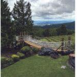 Bridge with nets on a Vineyard