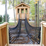 Example of a rope bridge for play gym